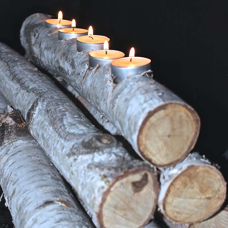 Interior styling unique wood candle holder