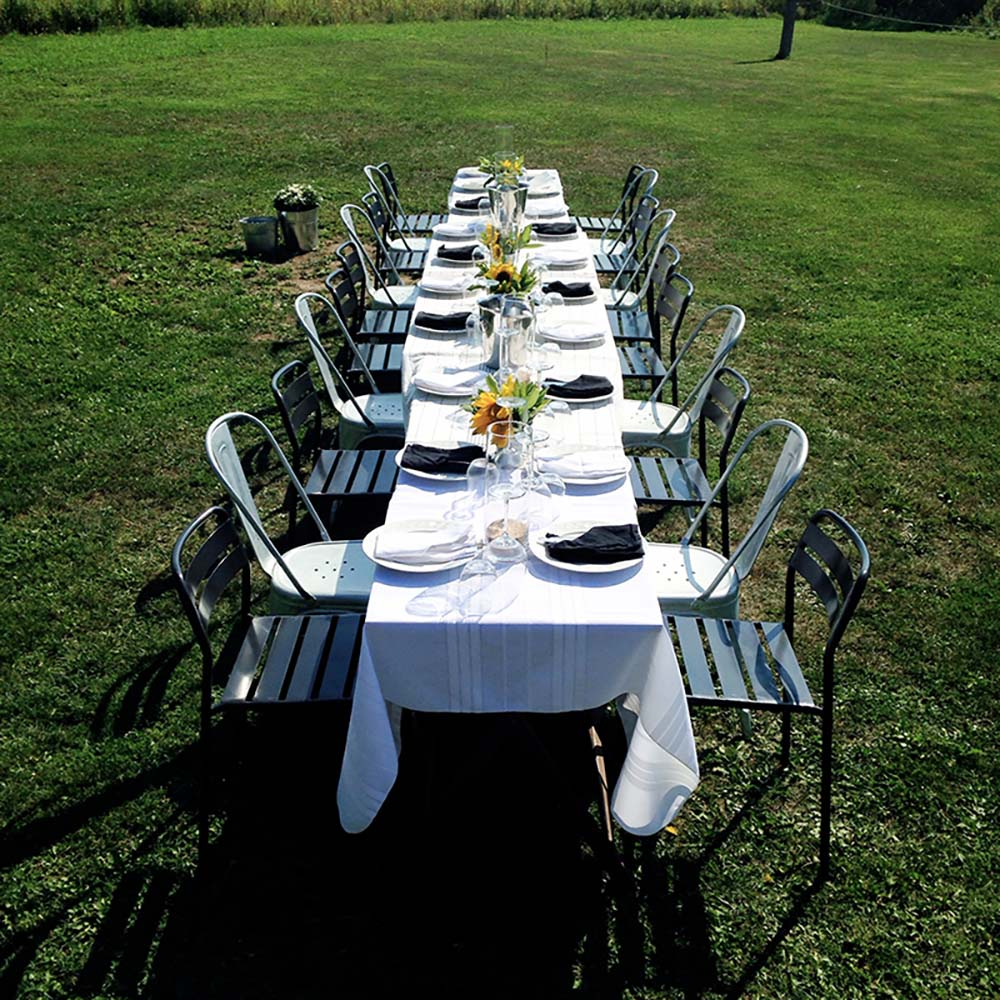 Outside table event design