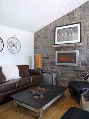 Cozy fireplace design