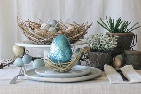 Create an Easter and Spring table setting