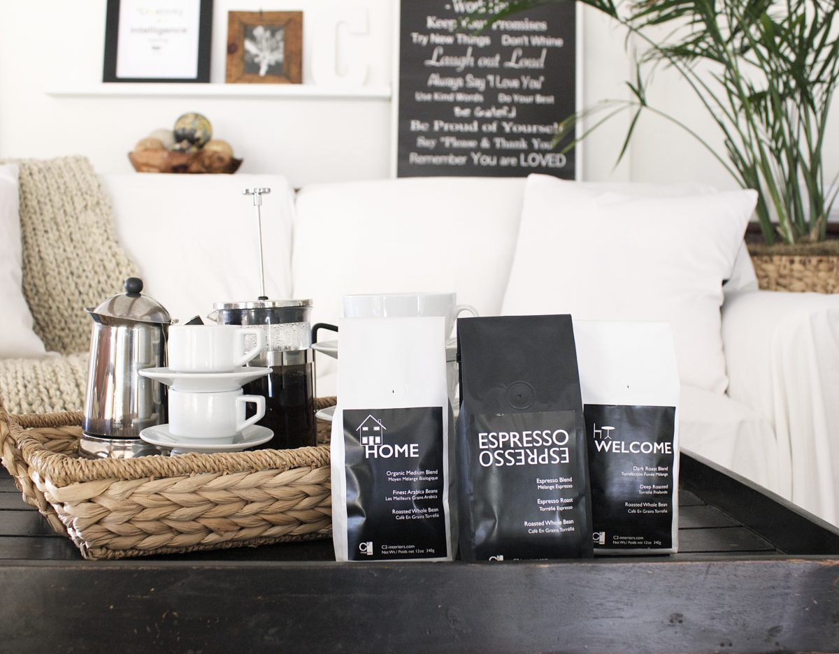 Coffee for your Interiors a Recipe and Special Gift