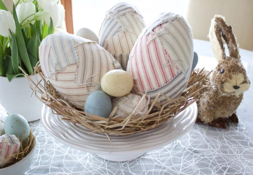 Patchwork Home Decor for Easter