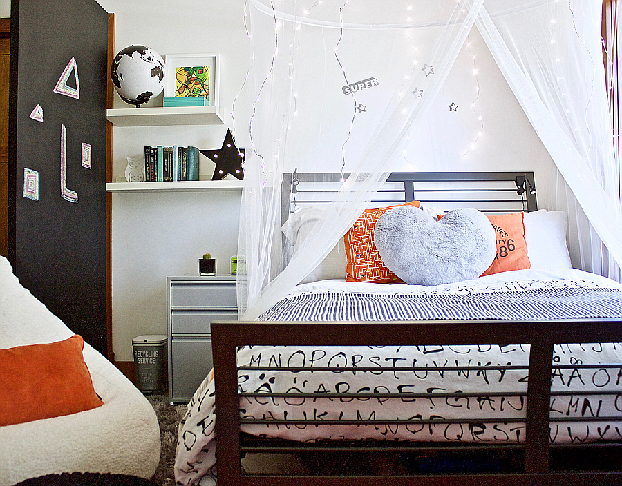 A makeover and the creation of a Super Star themed tween bedroom