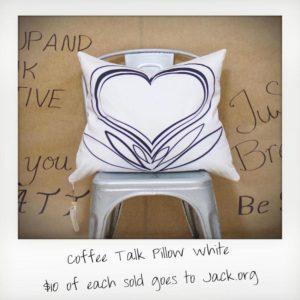 Coffee Talk Pillow White